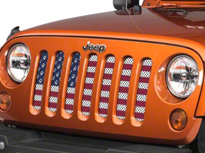 Under the Sun Grille Insert - Paws Old Glory (07-18 Jeep Wrangler JK)