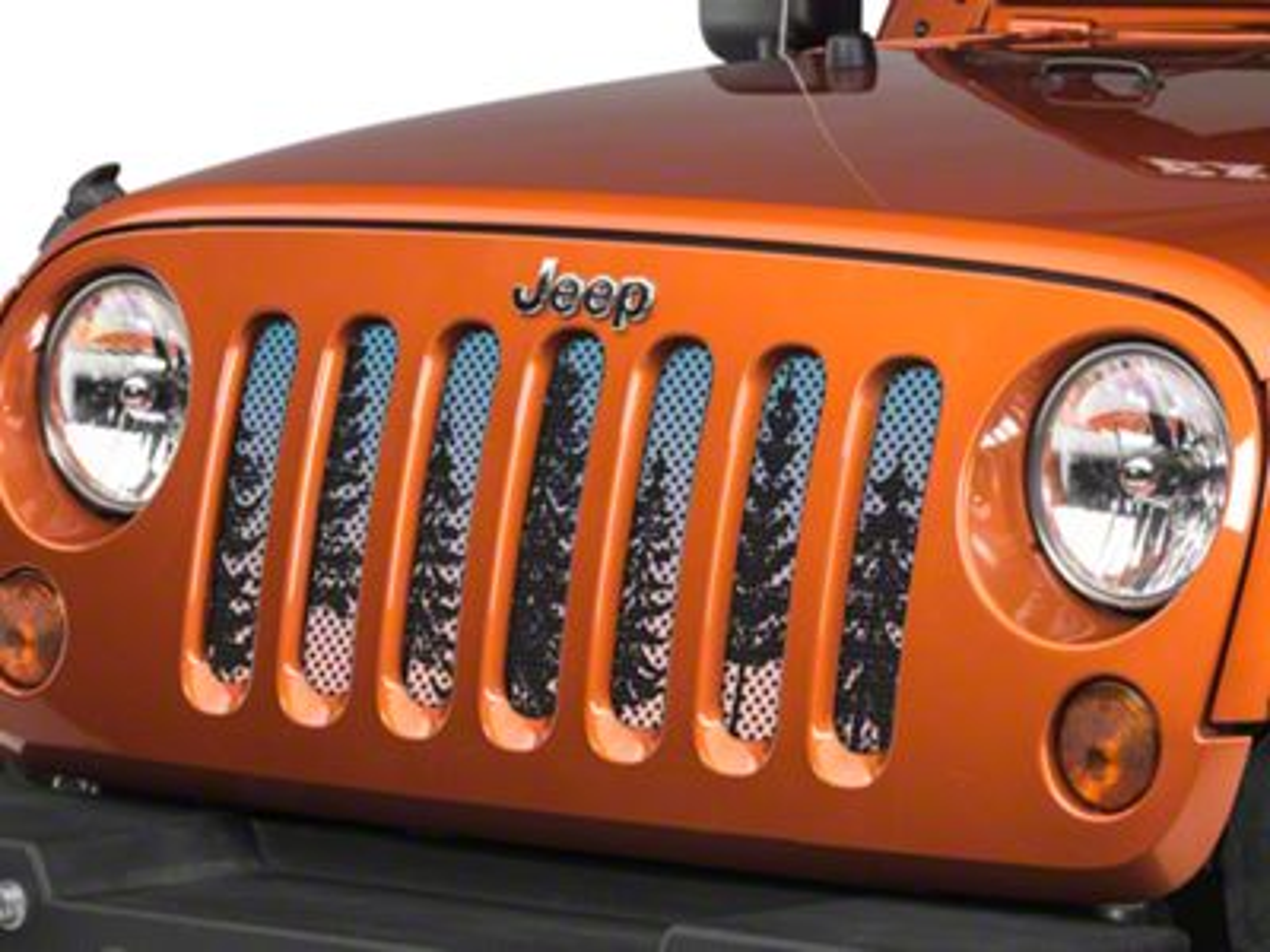 Under the Sun Grille Insert - Pine Trees Blue Sky (07-18 Jeep Wrangler JK)