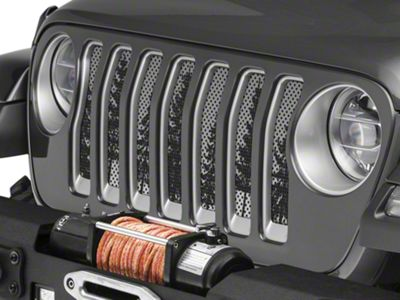 Under the Sun Grille Insert - Pine Trees Grey Sky (2018 Jeep Wrangler JL)