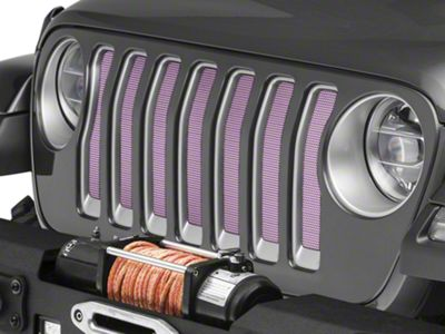 Under the Sun Grille Insert - Pink (2018 Jeep Wrangler JL)