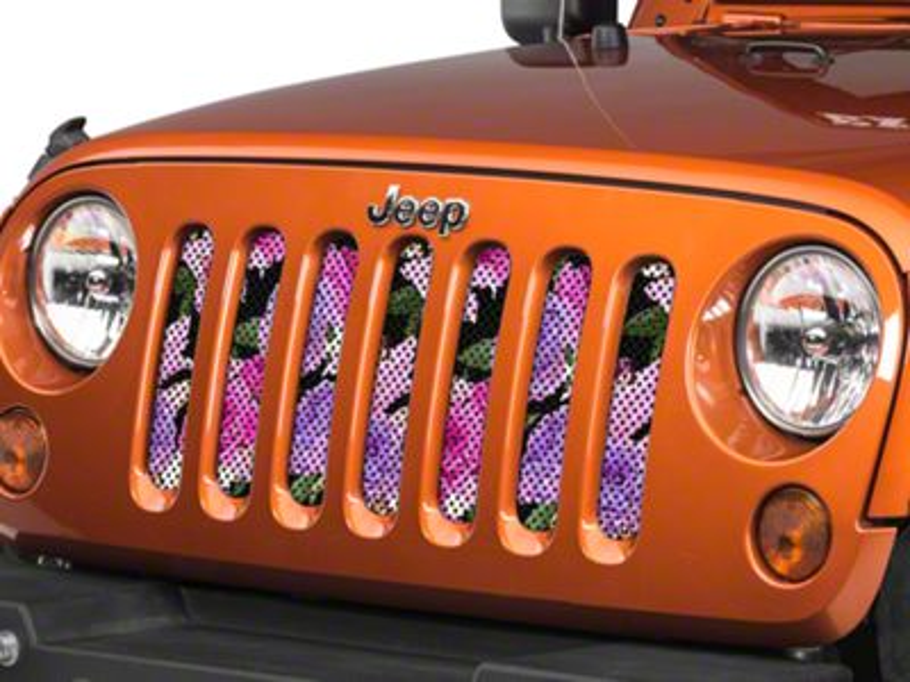 Under the Sun Grille Insert - Pink Roses (07-18 Jeep Wrangler JK)