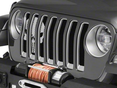 Under the Sun Grille Insert - Punisher Black and White (2018 Jeep Wrangler JL)