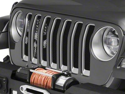 Under the Sun Grille Insert - Punisher BlackOut (2018 Jeep Wrangler JL)