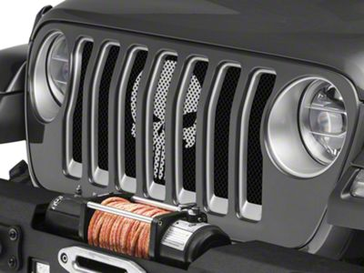 Under the Sun Grille Insert - Punisher Silver (2018 Jeep Wrangler JL)