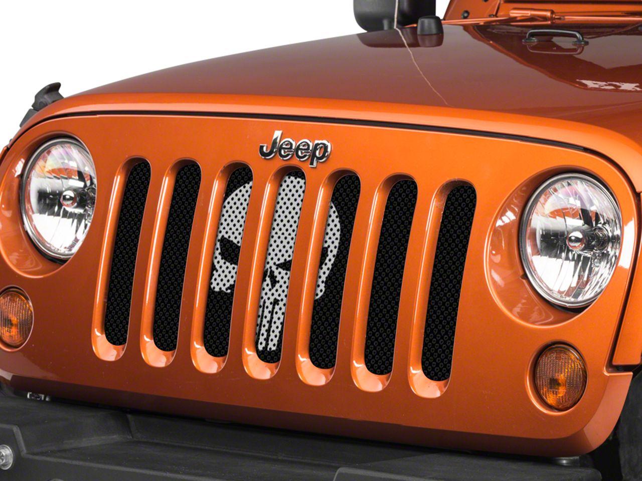Under the Sun Grille Insert - Punisher Silver (07-18 Jeep Wrangler JK)