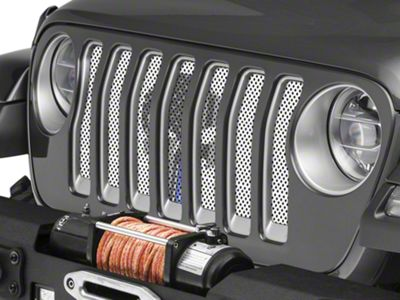 Under the Sun Grille Insert - Punisher Thin Blue Line (2018 Jeep Wrangler JL)