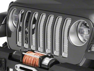Under the Sun Grille Insert - Punisher White Black Skull (2018 Jeep Wrangler JL)