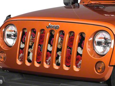 Under the Sun Grille Insert - Red Roses and Apples (07-18 Jeep Wrangler JK)