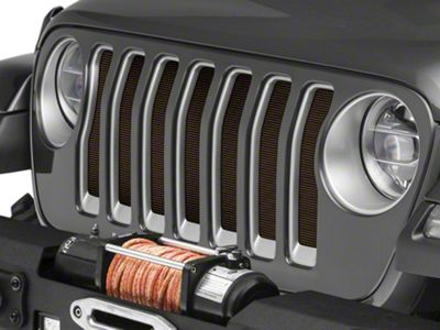 Under the Sun Grille Insert - Rugged Brown (2018 Jeep Wrangler JL)