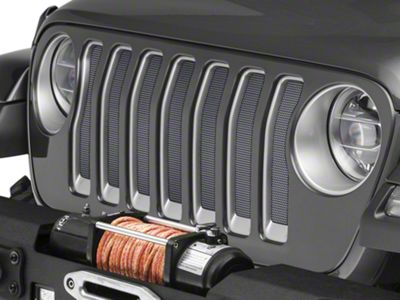 Under the Sun Grille Insert - Silverstone Metallic (2018 Jeep Wrangler JL)