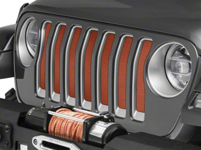 Under the Sun Grille Insert - Sunburst Orange Pearl (2018 Jeep Wrangler JL)