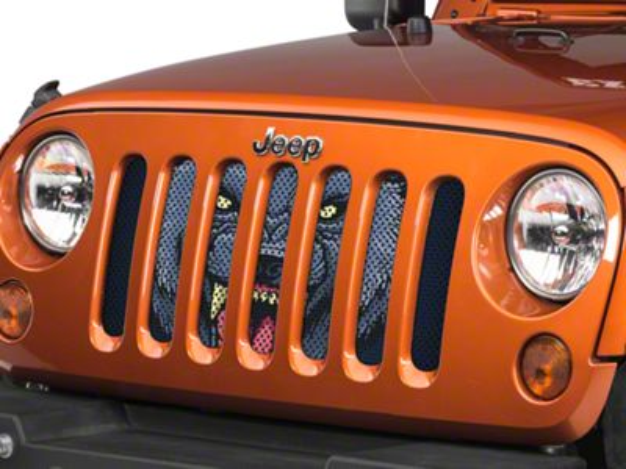 Under the Sun Grille Insert - Wolf (07-18 Jeep Wrangler JK)