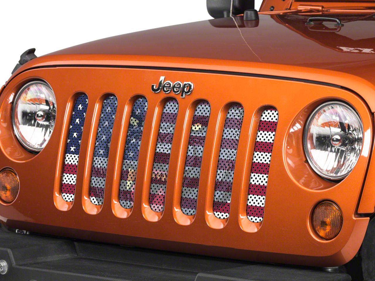 Under the Sun Grille Insert - Wolf Flag (07-18 Jeep Wrangler JK)
