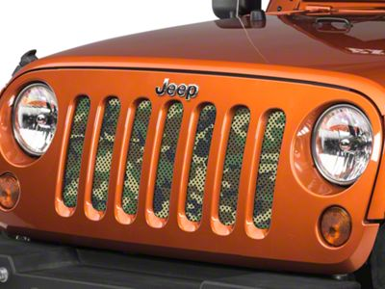 Under the Sun Grille Insert - Woodland Camo (07-18 Jeep Wrangler JK)