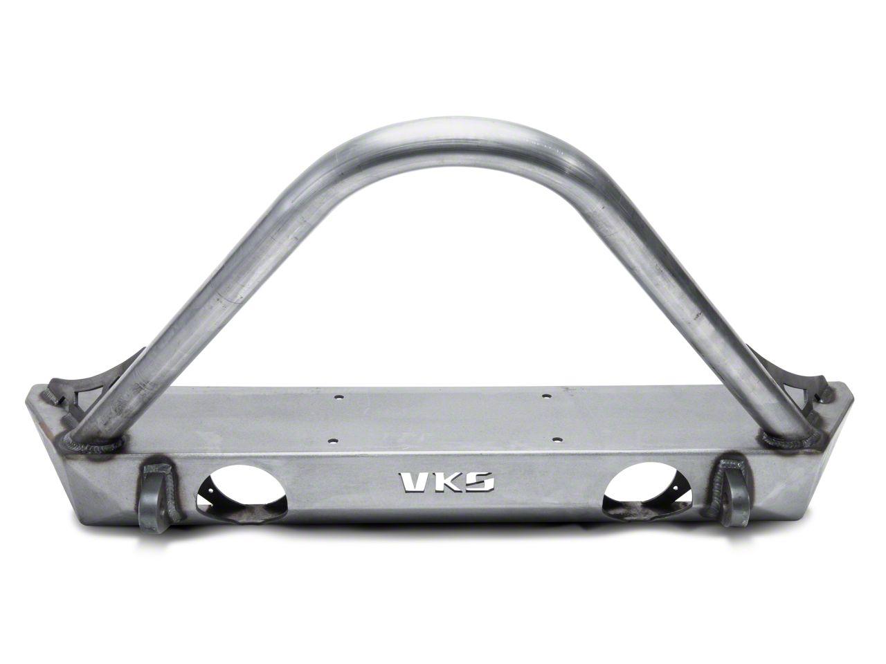 VKS Fabrication Short V2 Front Winch Bumper w/ Stinger (07-18 Jeep Wrangler JK)