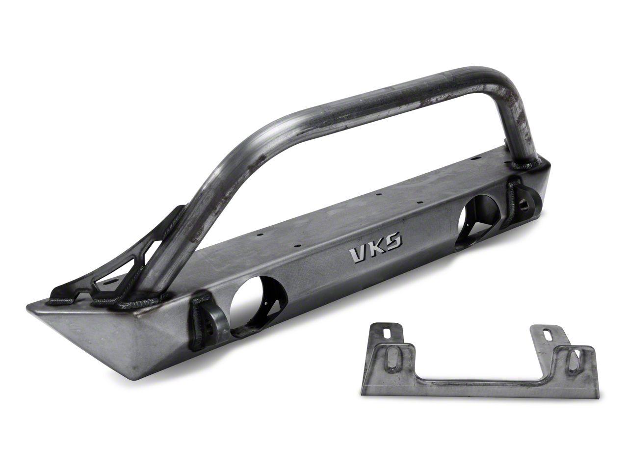 VKS Fabrication Short V2 Front Winch Bumper w/ Hoop (07-18 Jeep Wrangler JK)