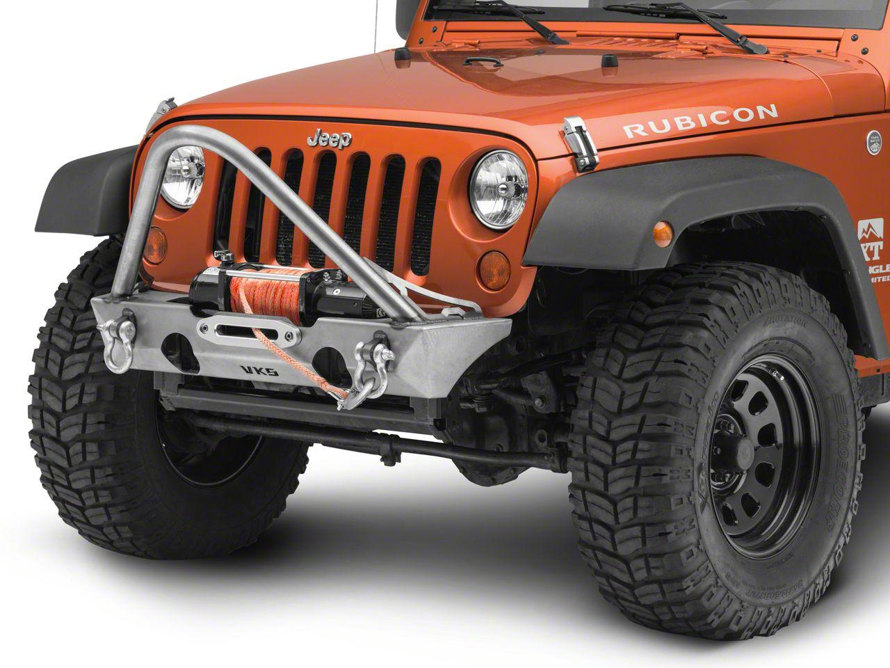 VKS Fabrication Enforcer Front Winch Bumper w/ Stinger (07-18 Jeep Wrangler JK)