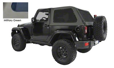 Suntop Bowless Top U2 - Military Green (07-18 Jeep Wrangler JK 2 Door)