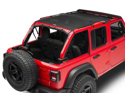 Dirty Dog 4x4 Safari Sun Screen - Black (18-19 Jeep Wrangler JL 4 Door)