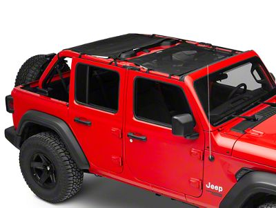 Dirty Dog 4x4 Front & Rear Sun Screens - Black (18-19 Jeep Wrangler JL 4 Door)