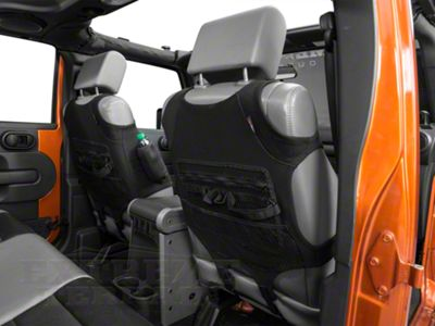 Rugged Ridge Neoprene Front Seat Vests - Black (07-18 Jeep Wrangler JK; 2018 Jeep Wrangler JL)