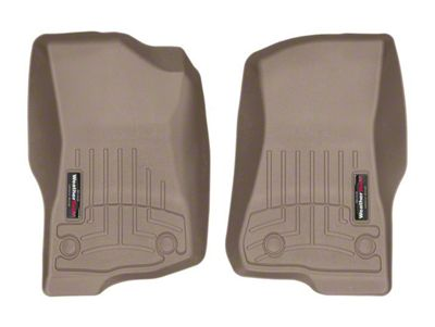 Weathertech DigitalFit Front Floor Liners - Tan (18-19 Jeep Wrangler JL 4 Door)