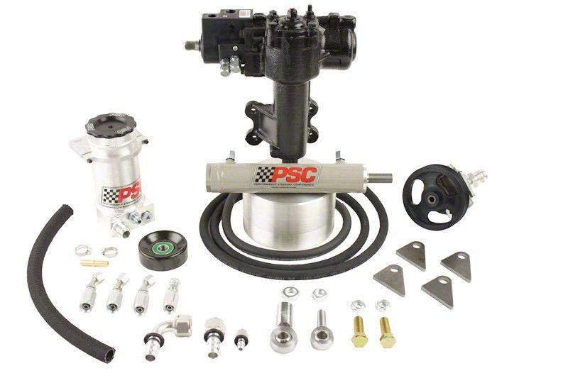 PSC Motorsports Extreme Duty Steering Cylinder Assist Kit for Aftermarket 1 Ton Axles (07-11 Jeep Wrangler JK 2 Door)