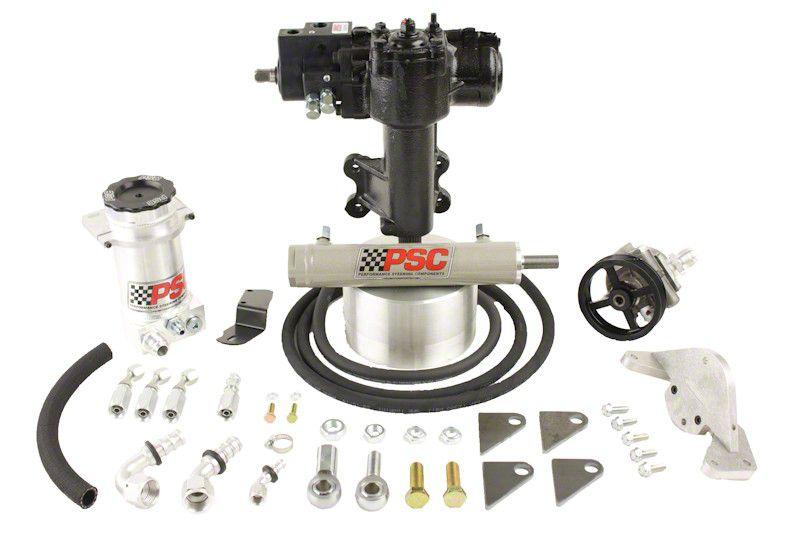 PSC Motorsports Extreme Duty Steering Cylinder Assist Kit for Aftermarket 1 Ton Axles (12-18 Jeep Wrangler JK 4 Door)