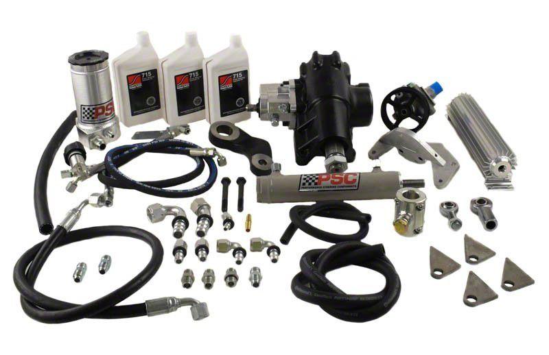 PSC Motorsports Big Bore XD Steering Cylinder Assist Kit for 1 Ton Axles (12-18 3.6L Jeep Wrangler JK)