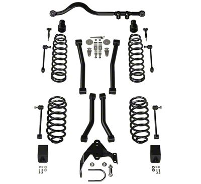 Teraflex 3 in. Lift Suspension Lift Kit w/ 4 Sport FlexArms & Track Bar (07-18 Jeep Wrangler JK 4 Door)