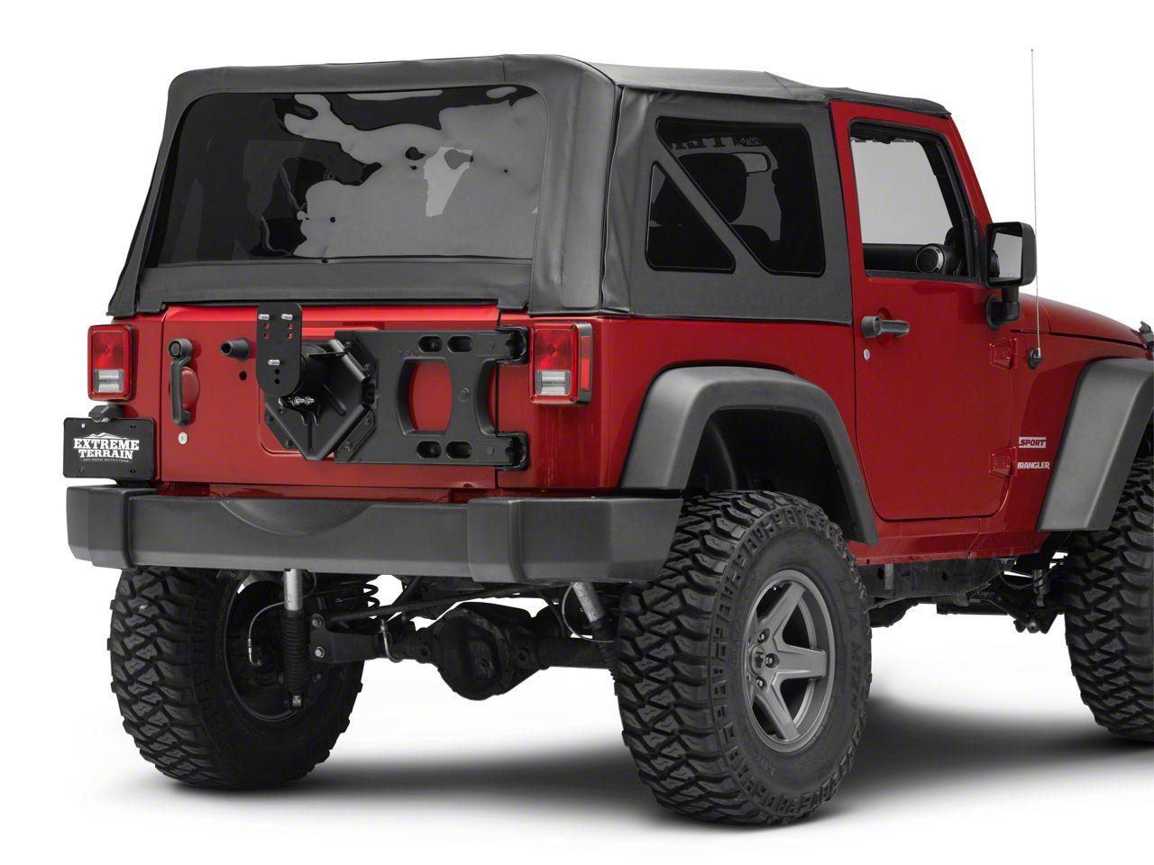 Teraflex HD Hinged Carrier w/ Adjustable Tire Mount (07-18 Jeep Wrangler JK)