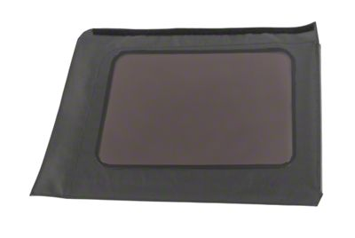 MasterTop Replacement Quarter Window - Black Diamond - Driver Side (07-18 Jeep Wrangler JK 4 Door)