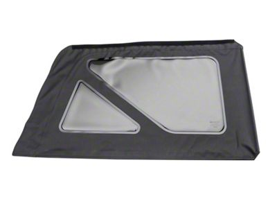 MasterTop Replacement Quarter Window - Black Diamond - Passenger Side (07-18 Jeep Wrangler JK 2 Door)
