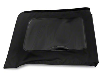 MasterTop Replacement Quarter Window - Black Diamond - Passenger Side (07-18 Jeep Wrangler JK 4 Door)