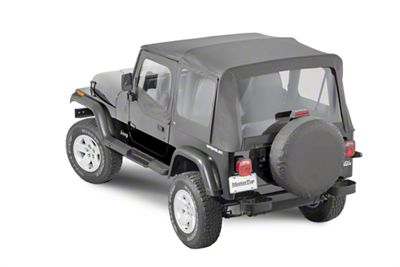 MasterTop Replacement Top w/ Door Skins - Clear Glass - Black Diamond (87-95 Jeep Wrangler YJ)