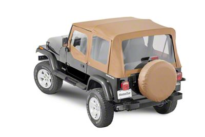 MasterTop Replacement Top w/ Door Skins - Clear Glass - Spice Diamond (87-95 Jeep Wrangler YJ)