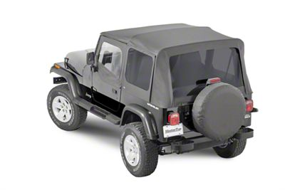 MasterTop Replacement Top w/ Door Skins - Tinted Glass - Black Diamond (87-95 Jeep Wrangler YJ)