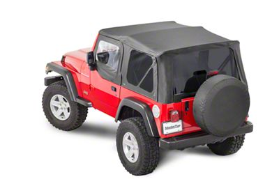 MasterTop Replacement Top w/ Door Skins - Tinted Glass - Black Diamond (97-06 Jeep Wrangler TJ)