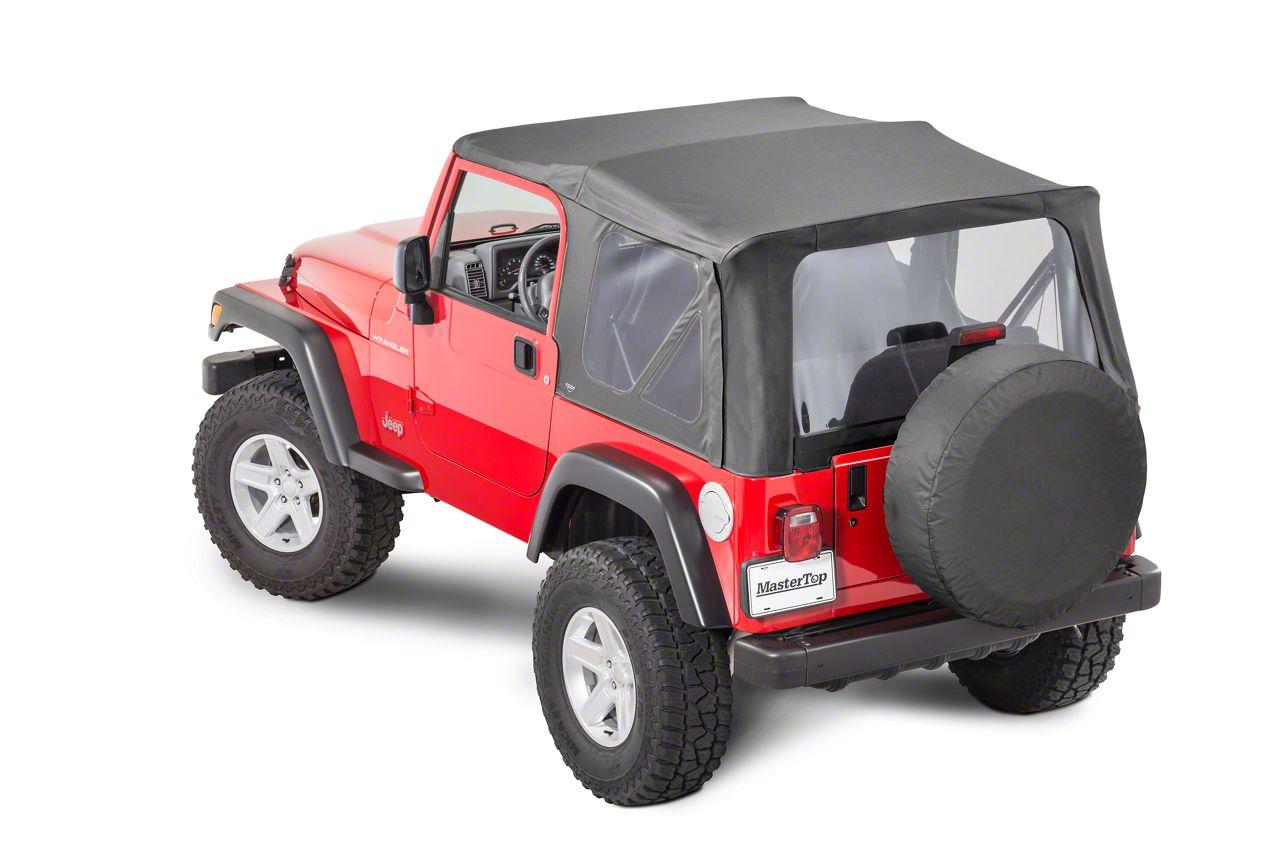 MasterTop Replacement Top w/o Door Skins - Clear Glass - Black Diamond (97-06 Jeep Wrangler TJ)
