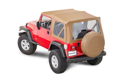 MasterTop Replacement Top w/o Door Skins - Clear Glass - Spice Diamond (97-06 Jeep Wrangler TJ)
