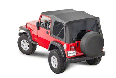 MasterTop Replacement Top w/o Door Skins - Tinted Glass - Black Diamond (97-06 Jeep Wrangler TJ)