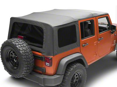MasterTop Replacement Top w/o Door Skins - Tinted Glass - Black Diamond (10-18 Jeep Wrangler JK 4 Door)