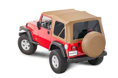 MasterTop Replacement Top w/o Door Skins - Tinted Glass - Spice Diamond (97-06 Jeep Wrangler TJ)