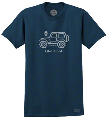 Life is Good Native Off Road Crusher T-Shirt - Darkest Blue