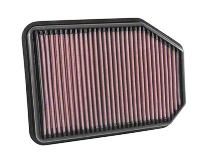 K&N Drop-In Replacement Air Filter (07-18 2.8L Jeep Wrangler JK)