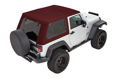 Bestop Trektop Pro Hybrid Soft Top - Red Twill (07-18 Jeep Wrangler JK 2 Door)