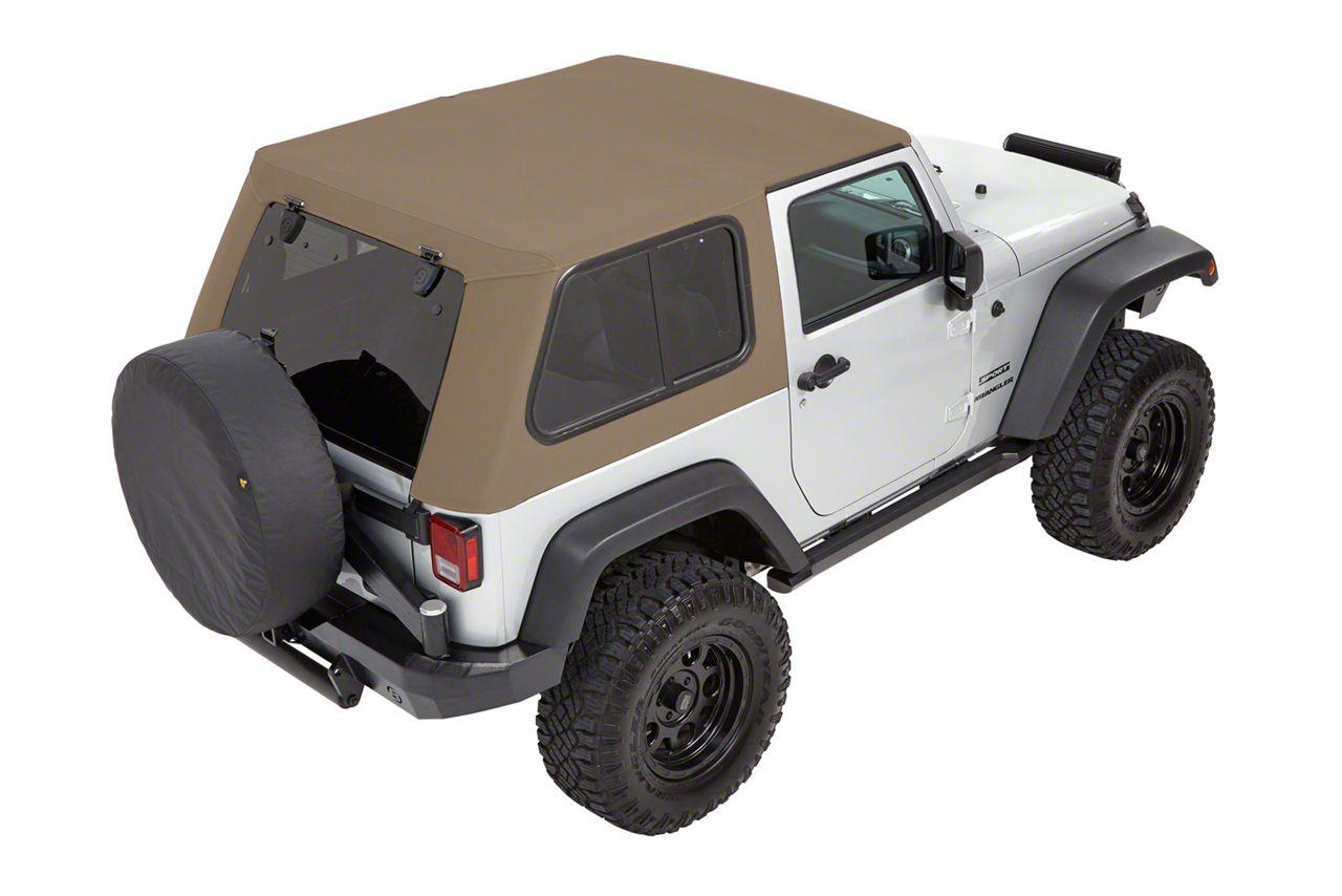 Bestop Trektop Pro Hybrid Soft Top - Beige Twill (07-18 Jeep Wrangler JK 2 Door)