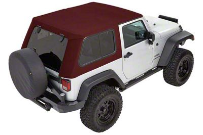 Bestop Trektop Pro Hybrid Soft Top - Red Twill (07-18 Jeep Wrangler JK 4 Door)