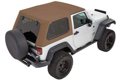 Bestop Trektop Pro Hybrid Soft Top - Tan Twill (07-18 Jeep Wrangler JK 4 Door)