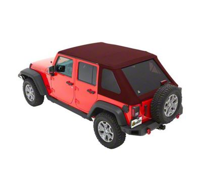 Bestop The All New Trektop NX Soft Top - Red Twill (07-18 Jeep Wrangler JK 4 Door)